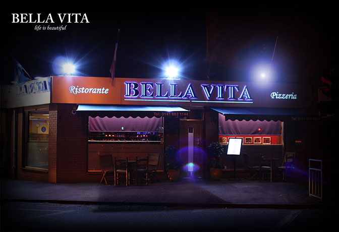 menus bella vita italian restaurant mosspark. Black Bedroom Furniture Sets. Home Design Ideas